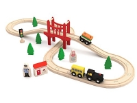 ihocon: Wooden Train Set (37-Piece) 木製火車組