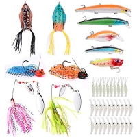 ihocon: Baikalbass Fishing Up to 121pcs Whopper Set 魚餌