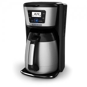 ihocon: BLACK+DECKER 12-Cup Thermal Coffeemaker, Black/Silver, CM2035B  咖啡機