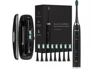 ihocon: AquaSonic Ultrasonic Toothbrush 超音波牙刷音+ 8枝替換刷頭 + 旅行用收納盒