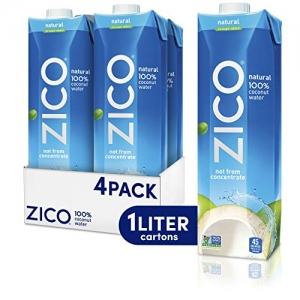 ihocon: Zico Premium Natural Coconut Water Drinks, Gluten Free, 33.8 fl oz, 4 Pack  天然椰子水