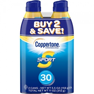 ihocon: Coppertone SPORT Continuous Sunscreen Spray Broad Spectrum SPF 30 (5.5 Ounce per Bottle, Pack of 2) 防曬噴霧