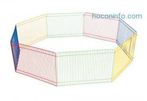 ihocon: Prevue Pet Products Multi-Color Small Pet Playpen 40090