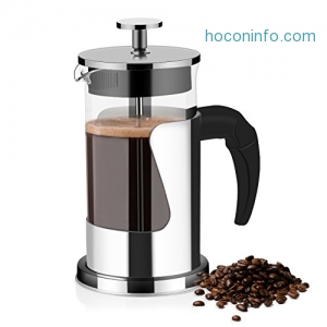 ihocon: French Press Coffee Maker and Tea Maker( 600ml)