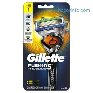 ihocon: Gillette Fusion5 ProGlide Men's Razor, Handle & 2 Blade Refills (Packaging May Vary)