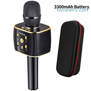 ihocon: Hmovie 3300mAh Wireless Karaoke Microphone 12w Hi-Fi Bluetooth Speaker Player卡拉OK麥克風