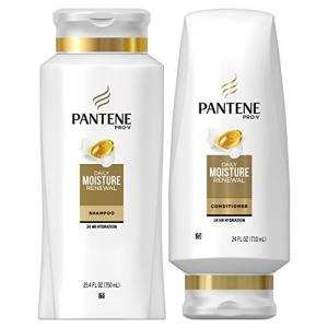 ihocon: Pantene Moisturizing Shampoo 25.4 OZ and Sulfate Free Conditioner 24 OZ 潘婷保濕洗髮乳+護髮乳