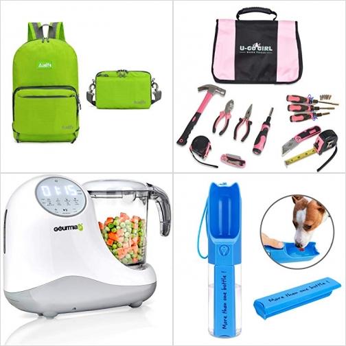 [Amazon折扣碼] 防水折疊背包, 居家常備工具組, 嬰兒食品調理機, 外出寵物飲水器  額外折扣!