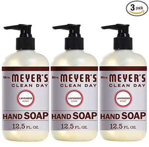ihocon: Mrs. Meyer's Hand Soap Lavender, 12.5 Fluid Ounce (Pack of 3)洗手液皂 3瓶