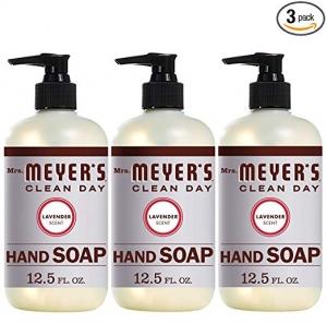 ihocon: Mrs. Meyer's Hand Soap Lavender, 12.5 Fluid Ounce (Pack of 3)洗手液皂 3瓶