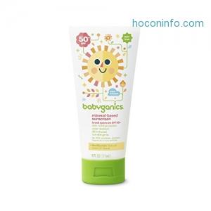 ihocon: Babyganics Mineral-Based Baby Sunscreen Lotion, SPF 50, 6oz Tube (Pack of 2)