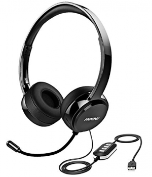 ihocon: Mpow 071 消噪麥克風耳機 USB Noise Cancelling PC Wired Headphones