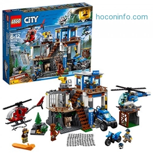 ihocon: LEGO City Mountain Police Headquarters 60174 Building Kit (663 Piece)