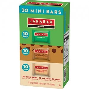 ihocon: Larabar Minis Gluten Free Bar Variety Pack, Apple Pie, Peanut Butter & Peanut Butter Chocolate Chip Cookie, 0.78 oz Bars (30 Count)