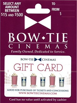 ihocon: $50 Bow Tie Cinemas Gift Card 只賣$40