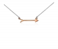 ihocon: Arrow Necklace in Sterling Silver and Rose Gold Vermeil