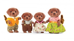 ihocon: Calico Critters CC1454 Chocolate Labrador Family Doll Set 家庭娃娃套裝