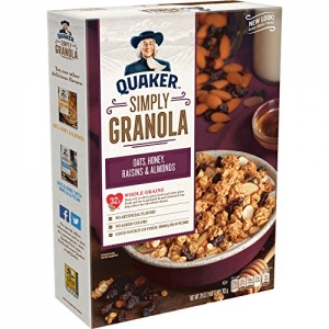ihocon: Quaker Simply Granola, Oats, Honey, Raisins and Almonds, 28 oz Boxes, 2 Count