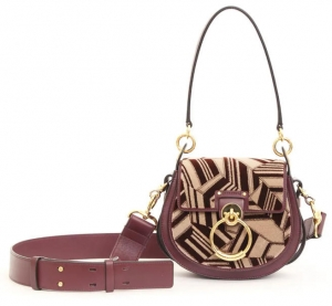 ihocon: favorite iconFAVORITE ZOOM Chloe Tess Small Embroidered Leather Camera Crossbody Bag