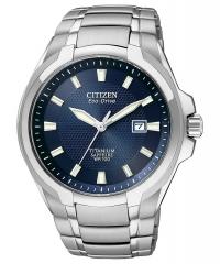 ihocon: Citizen Eco-Drive Men's Titanium Blue Dial Watch (BM7170-53L)