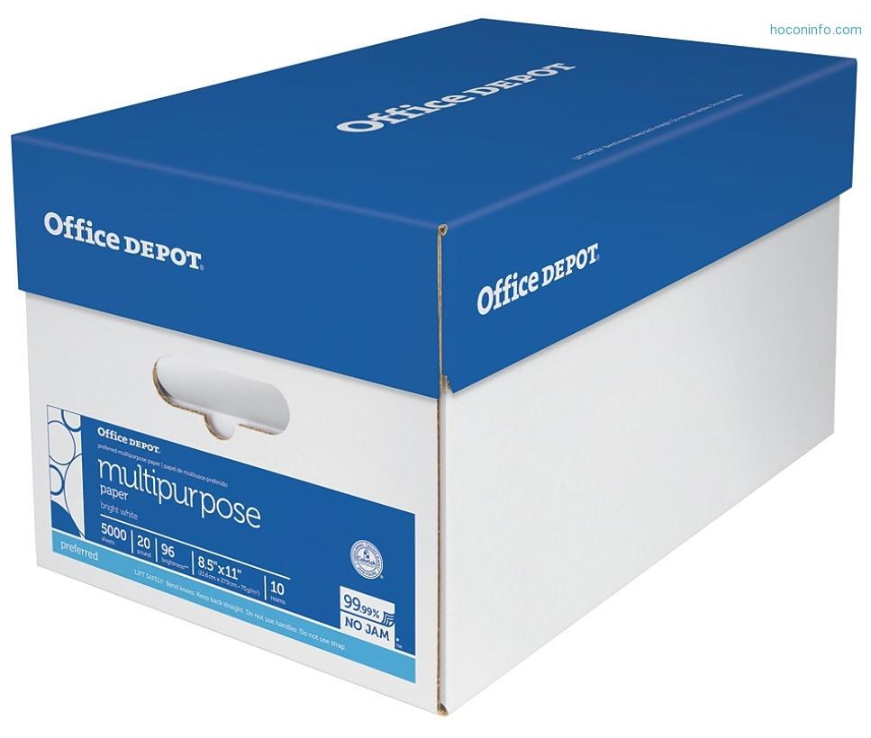 ihocon: 10-ream case of Office Depot Multipurpose Paper
