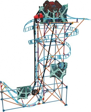 ihocon: K'NEX Thrill Rides – Cobweb Curse Roller Coaster Building Set – 473Piece