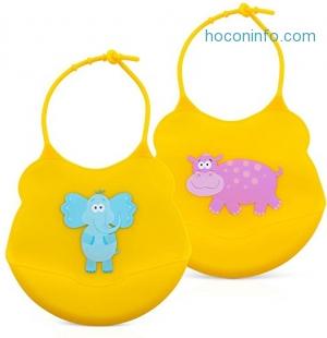 ihocon: Coreega Silicone Baby Bibs (set of 2)矽膠防水圍兜