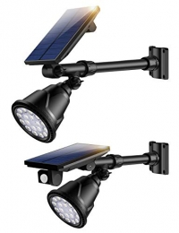 ihocon: Upgraded 600LM Motion Sensor Waterproof Solar Lights, Auto On/Off 2 Pack太陽能動作感應燈