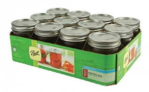 ihocon: Ball 60000 Half Pint (8 oz.) Mason Jars w/ Cap - Set of 12