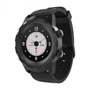 ihocon: 3Plus Cruz Hybrid Smart Watch with Heart Rate Monitor, Pedometer, Physical Hands, Touch Screen for Android/iOS 智能手錶
