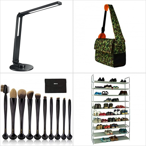 [Amazon折扣碼] LED護眼桌燈, 寵物外出擕帶包, 化妝刷組, 十層鞋架 額外折扣!