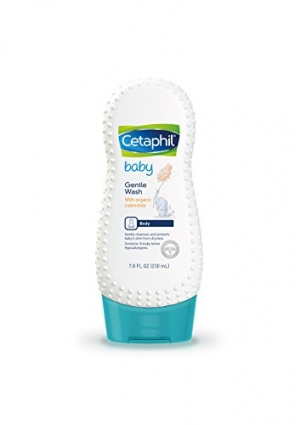 ihocon: Cetaphil Baby Gentle Wash with Organic Calendula, 7.8 Ounce 嬰兒溫和有機金盞花沐浴乳