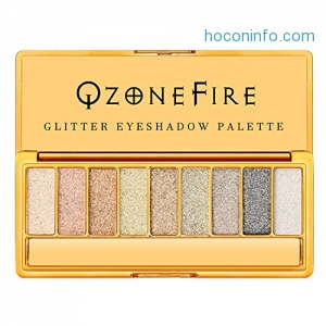 ihocon: Glitter Sparkly Eyeshadow Palette Ultra Pigmented Eye Shadow Powder 9 Colors Makeup Palette for Mother's Day Wedding Evening Party