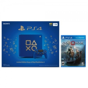 ihocon: Limited Edition Days of Play PlayStation 4 Slim 1TB Console + God of War