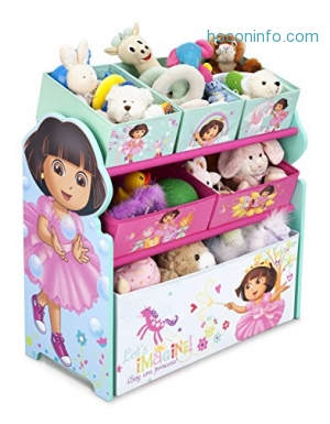 ihocon: Delta Children Multi-Bin Toy Organizer, Nick Jr. Dora The Explorer玩具收納櫃