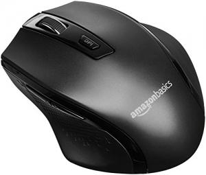 ihocon: AmazonBasics Ergonomic Wireless Mouse - DPI adjustable - Black 人體工學無線滑鼠