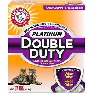 ihocon: Arm & Hammer Platinum Double Duty Advanced Dual Odor Control Clumpinb Litter 除臭猫砂37lb