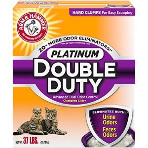 ihocon: Arm & Hammer Platinum Double Duty Advanced Dual Odor Control Clumpinb Litter 除臭猫砂37lb