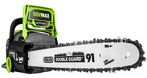ihocon: Earthwise LCS35814 14-Inch 58-Volt Cordless Brushless Motor Chainsaw, 2Ah Battery & Charger Included  35814 無線電機鏈鋸含電池和充電器