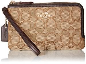 ihocon: COACH Women's Signature Double Corner Zip Bag 性雙拉鍊包