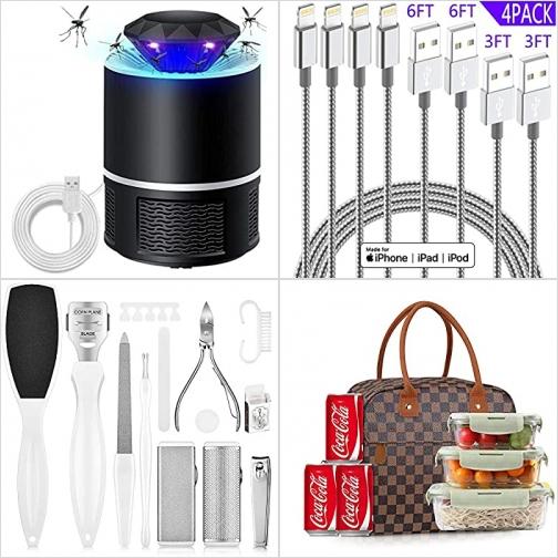 [Amazon折扣碼] 電蚊/蟲燈, iPhone充電線, 指甲剪/修腳部硬皮器, 便當袋  額外折扣!