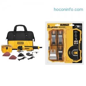 ihocon: DEWALT DWE315K Multi Material Corded Oscillating Tool Kit with DWA4215 Oscillating 3-Piece Set