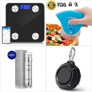 [Amazon折扣碼] 智能體脂體重計, Pizza刀, 去眼袋/黑眼圈/防皺眼霜, 防水藍芽Speaker 額外折扣!