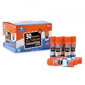 ihocon: Elmer's All Purpose School Glue Sticks, Washable, 7 Gram, 30 Count膠水棒