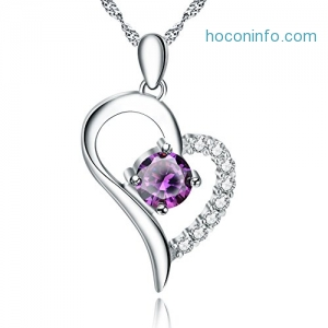 ihocon: YFN Jewelry 925 Sterling Silver Love Heart Pendant Necklace