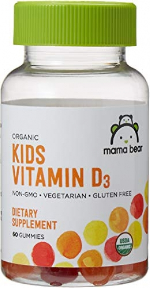 ihocon: Amazon Brand - Mama Bear Organic Kids Vitamin D3 Gummies, 60 Gummies, 1 Month Supply 有機兒童維他命 D3 軟糖