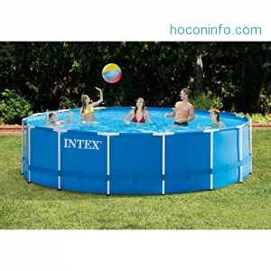 ihocon: Intex 15ft X 48in Metal Frame Pool Set with Filter Pump 游泳池