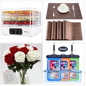 [Amazon折扣碼] 食物乾燥機, 抗熱餐墊, 人造玫瑰, 手機防水套 額外折扣!