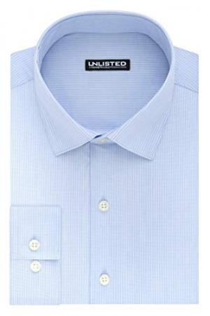 ihocon: Kenneth Cole Unlisted Mens Dress Shirt Slim Fit Stripe 男士襯衫