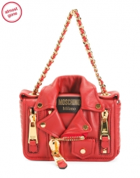 ihocon: MOSCHINO Made In Italy Leather Shoulder Bag